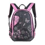 Рюкзак школьный серый/розовый 29*41*22 Grizzly