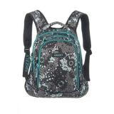 Рюкзак школьный серый/бирюза 42*32*20 Grizzly